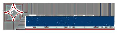 logo entreprise De Leuze bleu et rouge